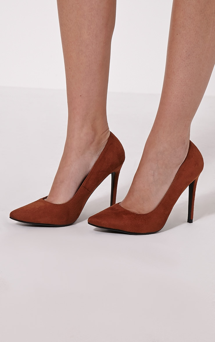 Tina Tan Faux Suede Court Shoes 1