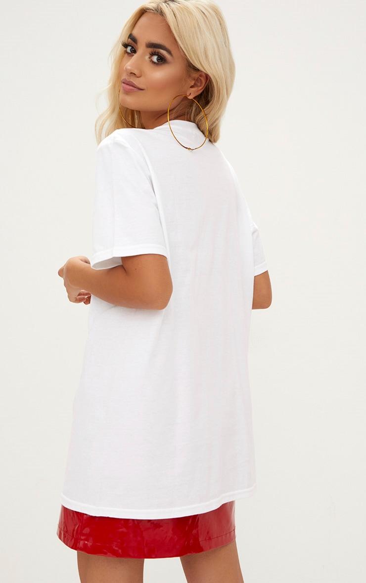 White XMAS Sequin Glitter Slogan T Shirt 2