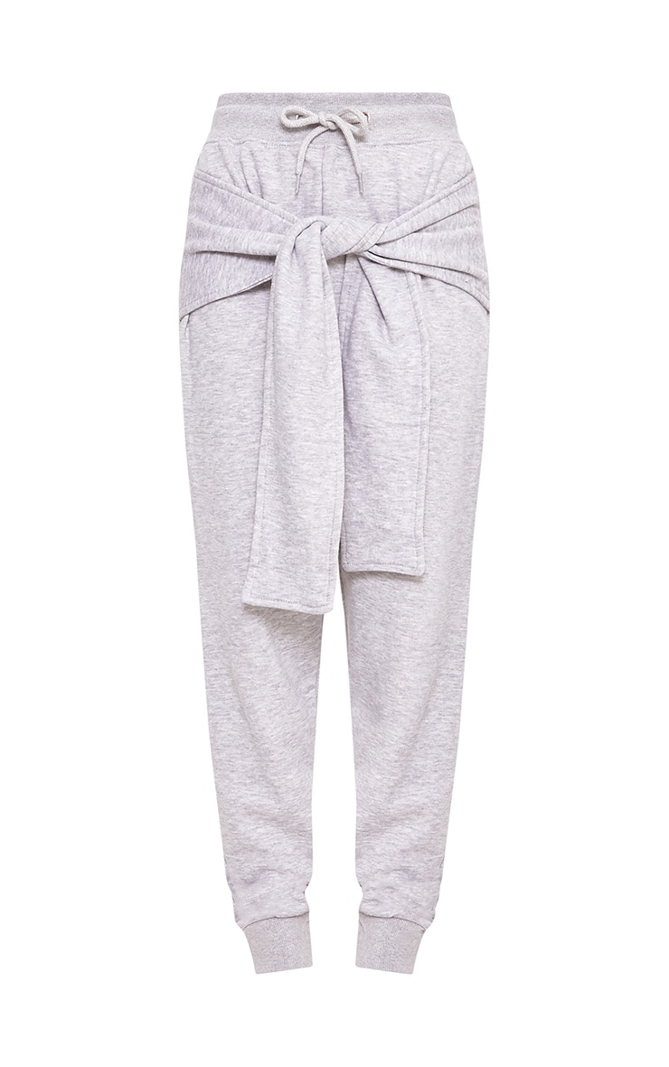 Lucee Grey Tie Front Joggers 3