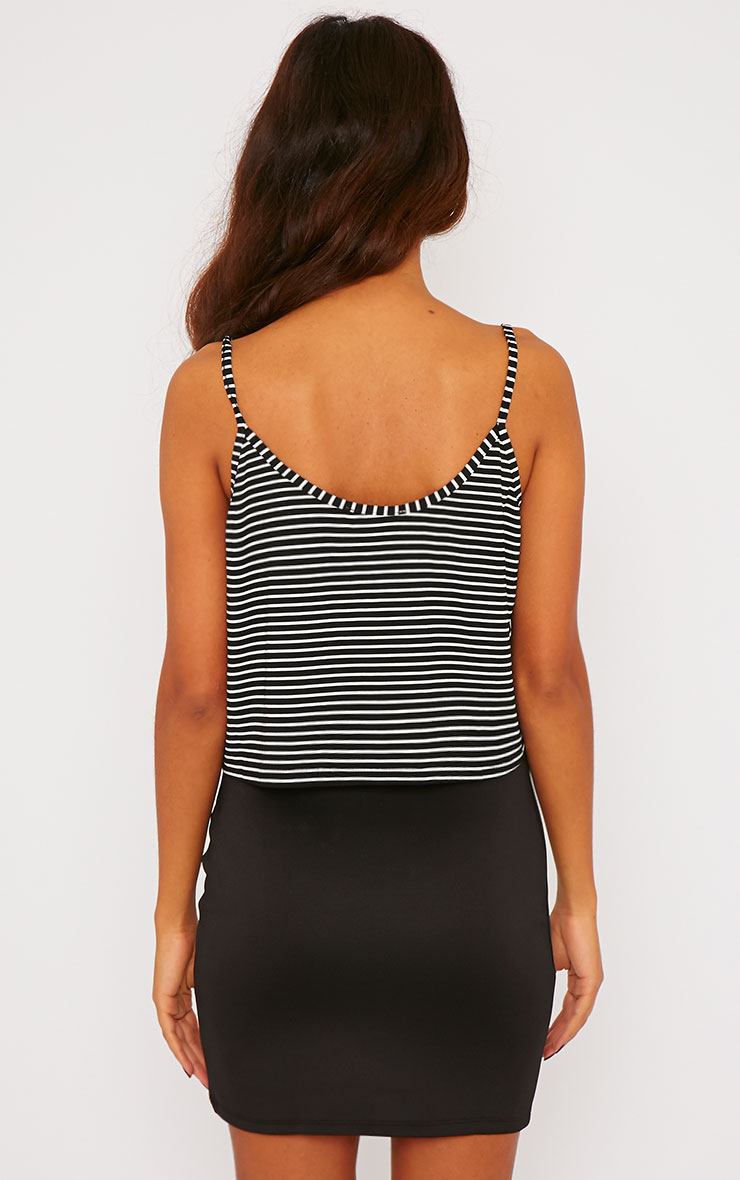 Edith Black Stripe Crop Top 2