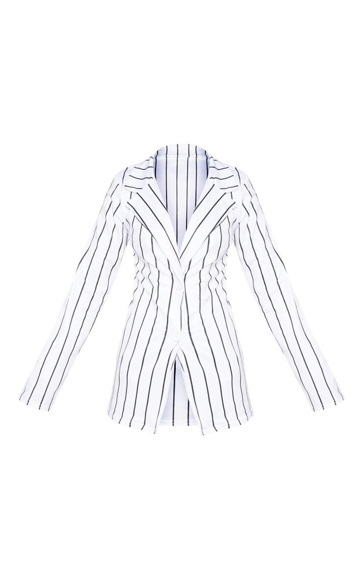 Petite White Striped Blazer  3
