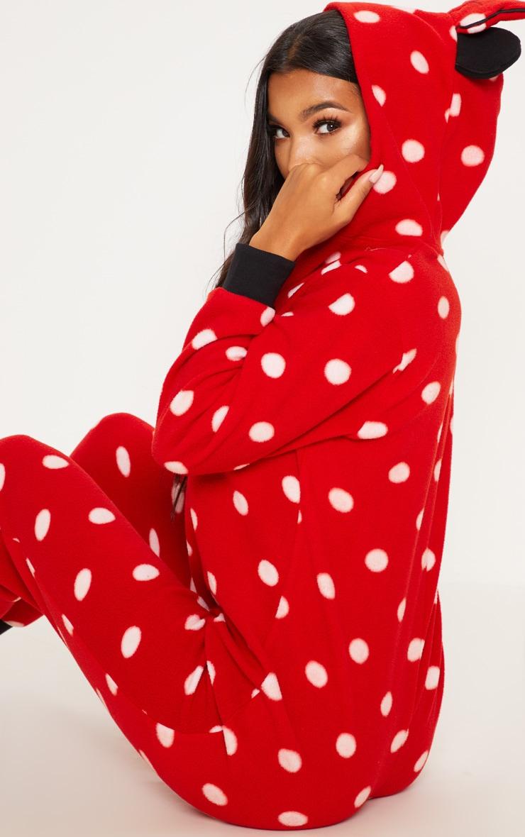 Red Disney Minnie Mouse Polka Dot Onesie 5