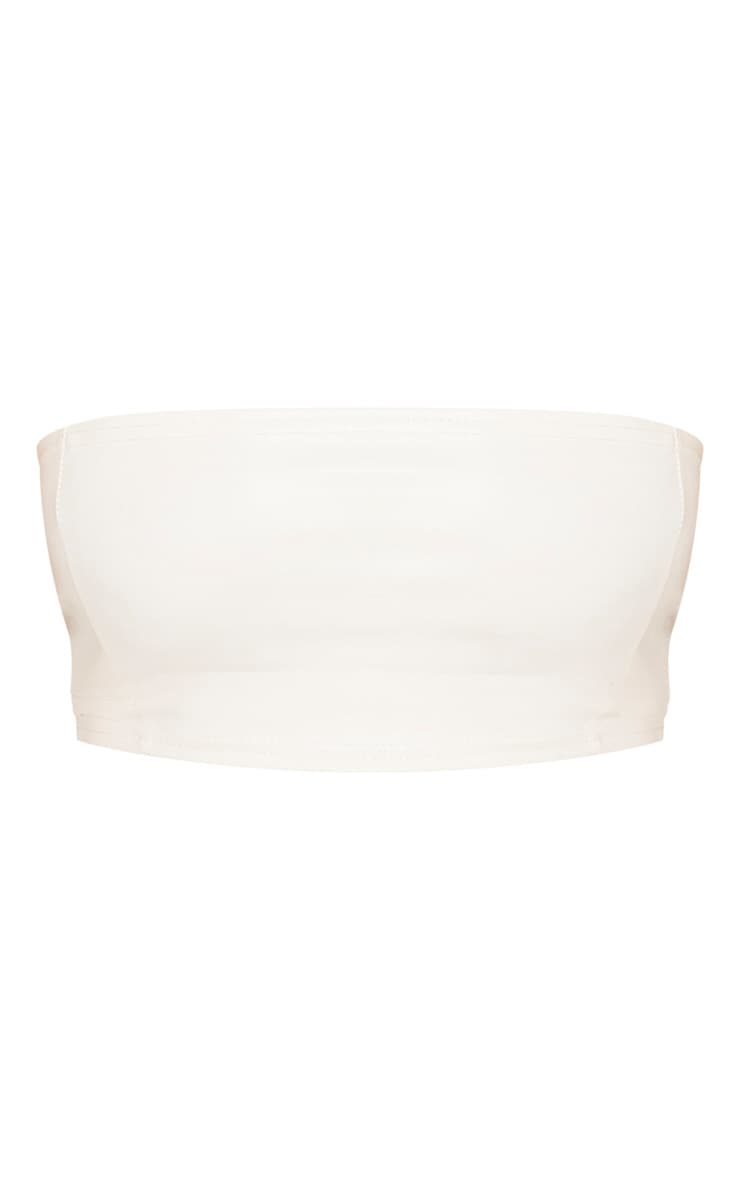 Shape Cream PU Seam Detail Bandeau Top 3