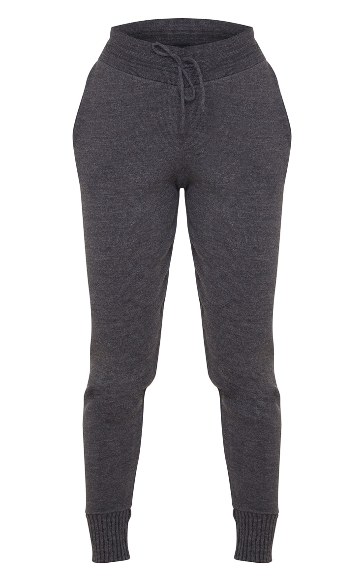 Charcoal Knitted Track Pants 3