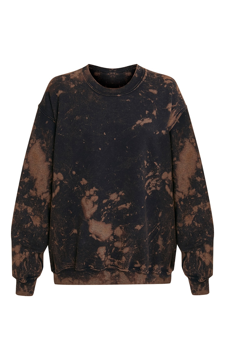 Wynta Black Bleached Sweatshirt 3