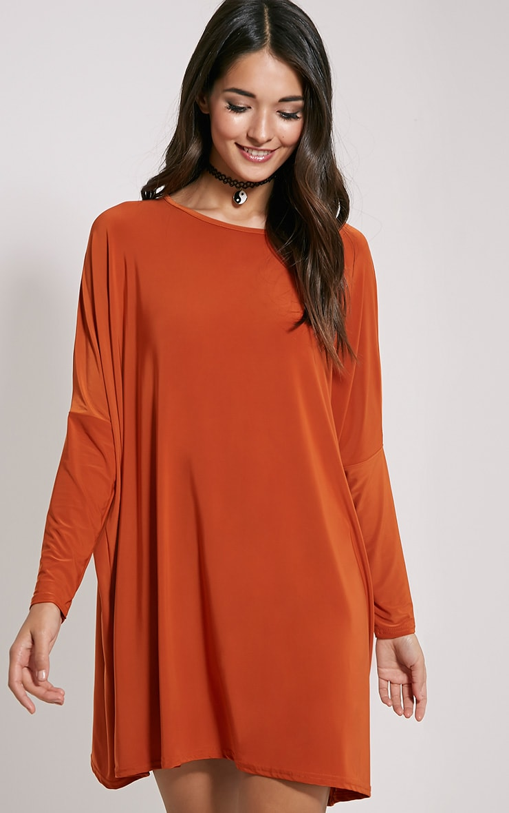 Olva Rust Bat Wing Slinky Tunic 1
