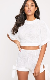 a907cfbe26b10c White Tie Open Back Crop Top image 2