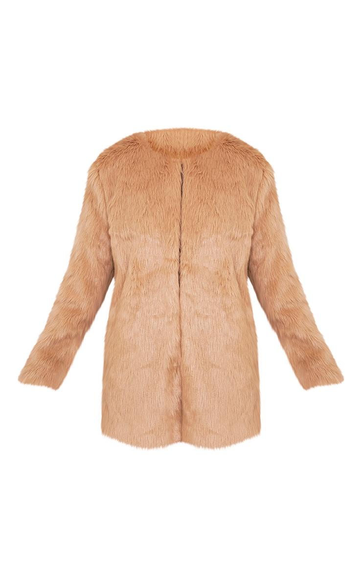 Florencia Tan Faux Fur Coat 4