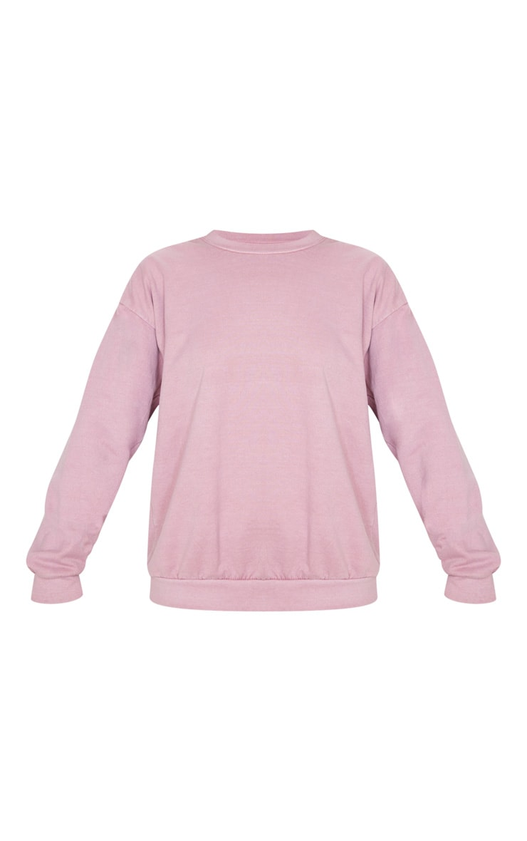Rose Washed Oversized Sweater 3