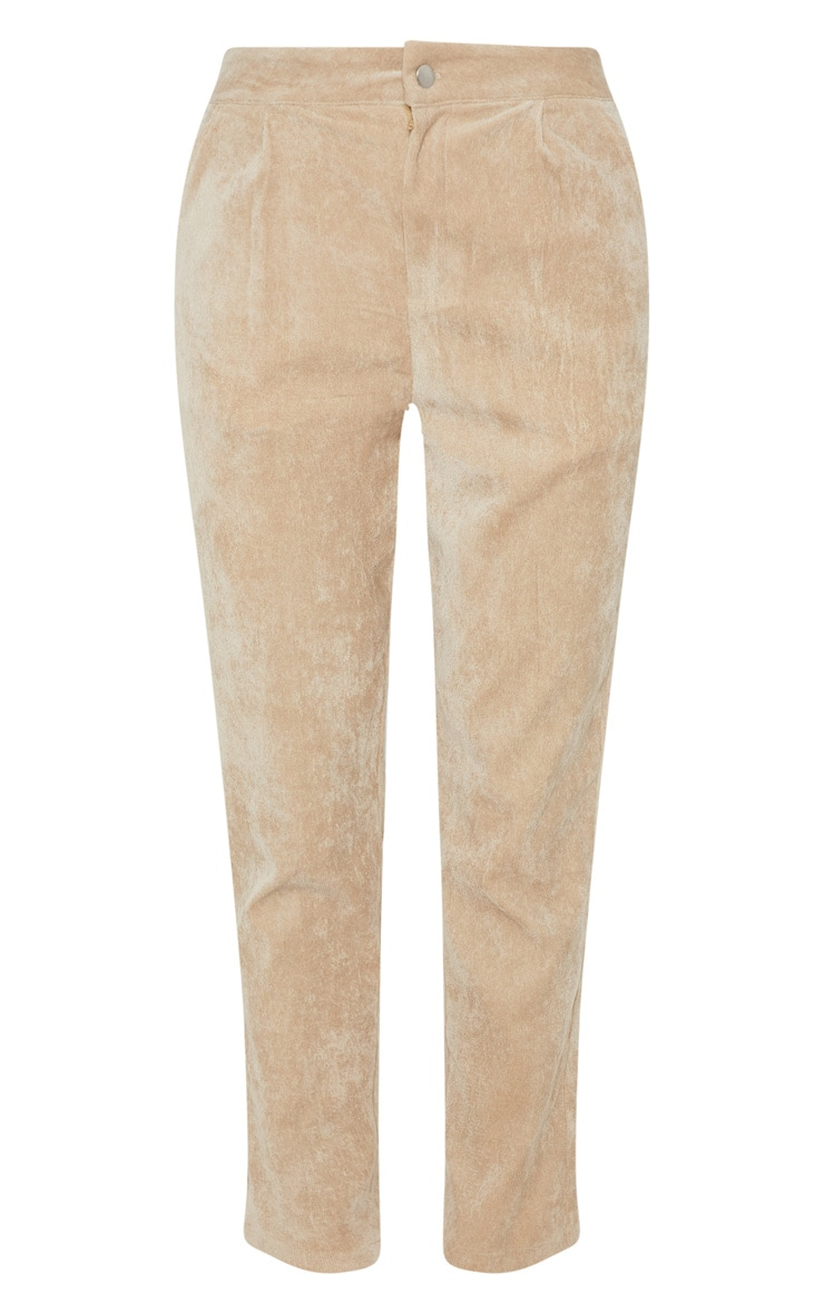 Stone Cord High Waisted Straight Leg Trouser 3