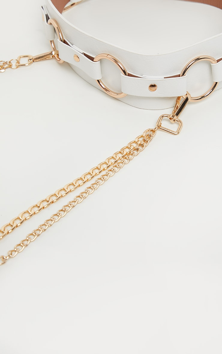 White And Gold Ring and Multi Chain Belt 2