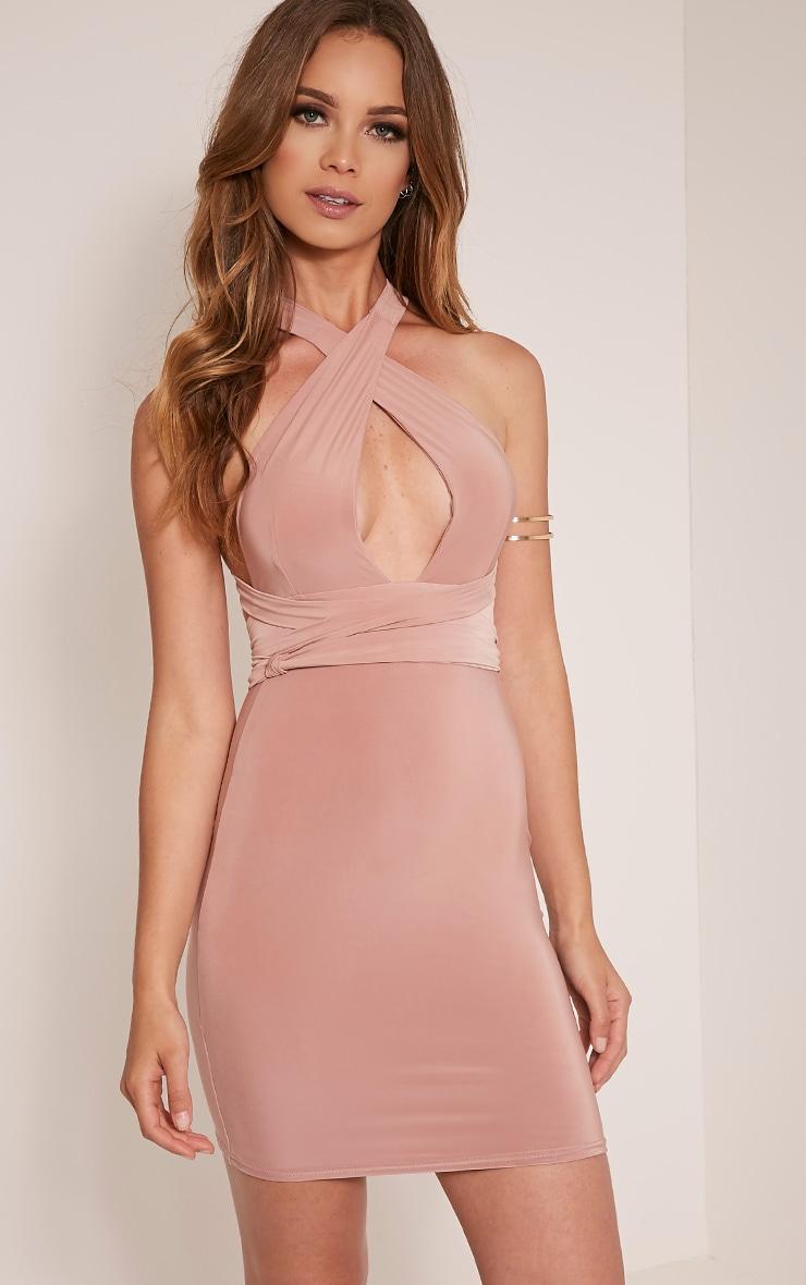 Lidia Blush Multiway Bodycon Dress 4