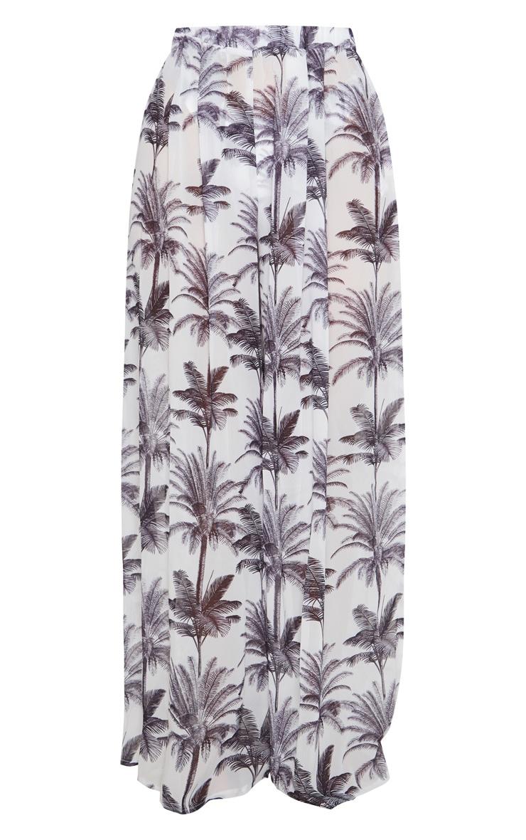 Monochrome Tropical Wide Leg Beach Pant 6