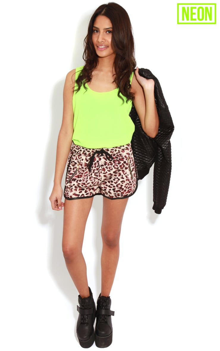 Kylee Neon Lime Silk Effect Vest 3