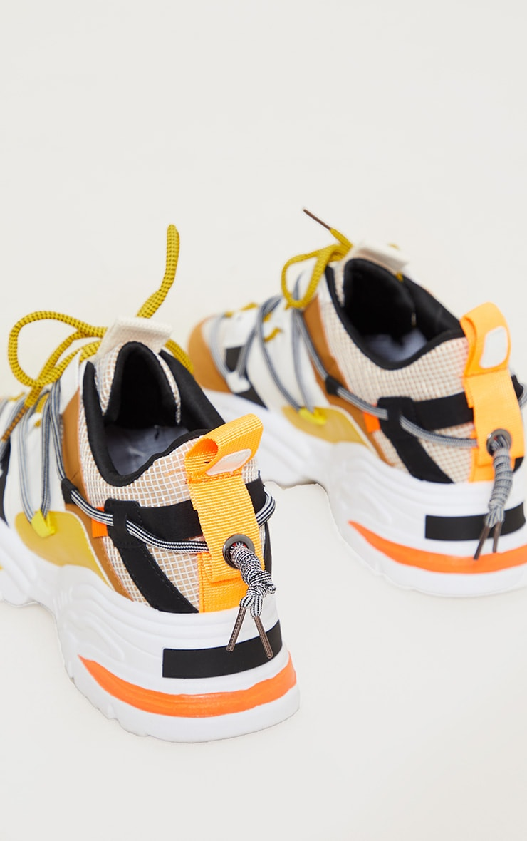 Yellow Multi Chunky Sneakers 4