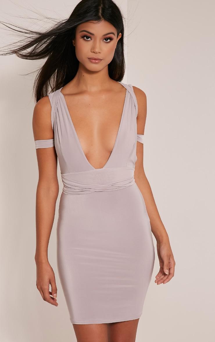 Lidia Grey Multiway Bodycon Dress 9
