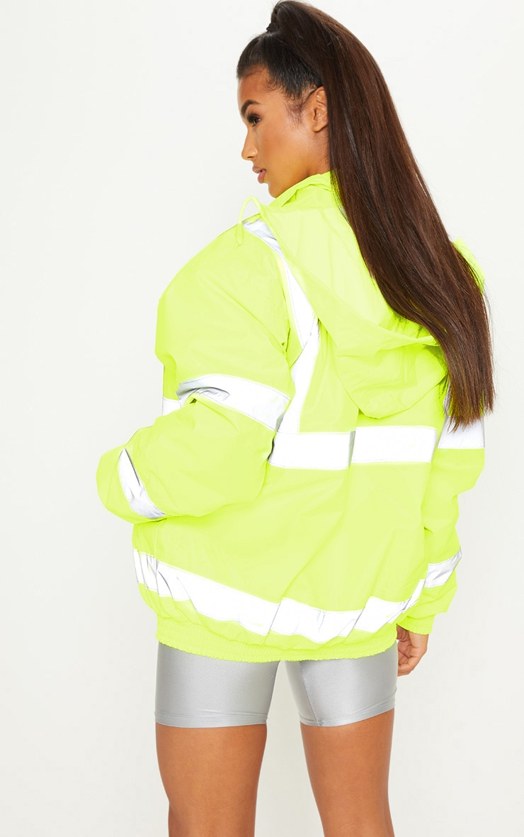 Neon Yellow High Vis Coat 2
