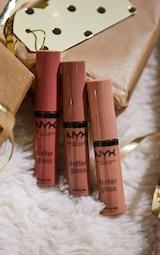 NYX Professional Makeup Gimme Super Stars! Butter Gloss Lip Trio Light Nude Gift Set 3