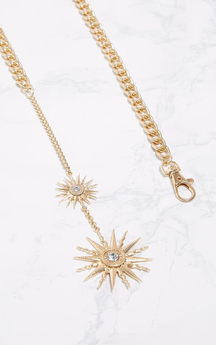 Gold Sundial Chunky Chain Belt 3
