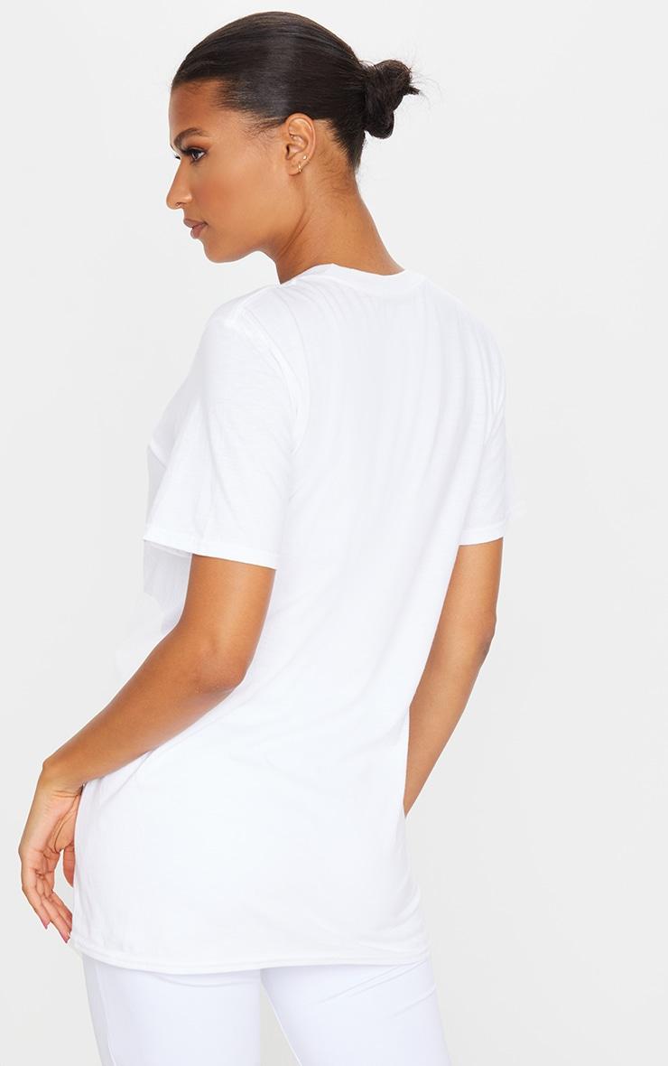 T-shirt surdimensionné blanc slogan PRETTYLITTLETHING  2