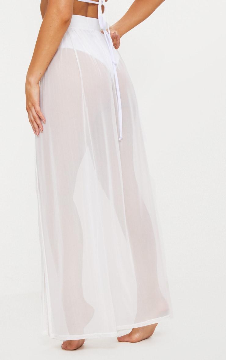 Jupe longue en mesh blanche 4