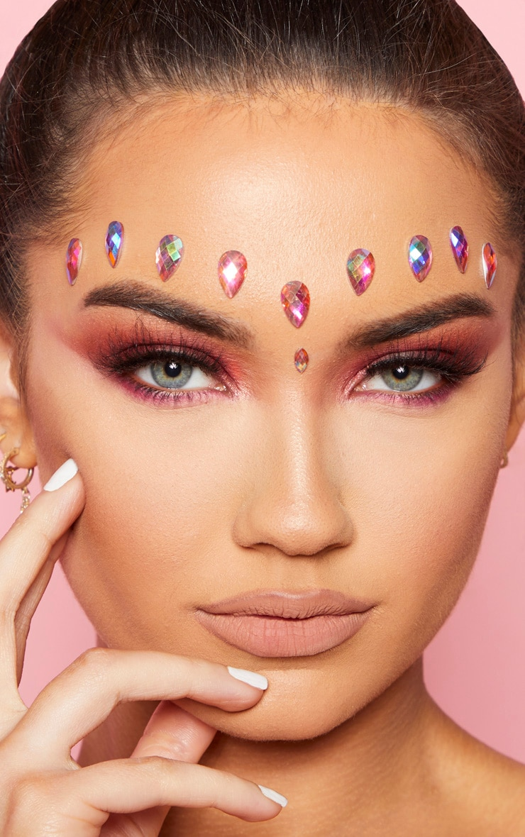 SHRINE Tear Drop Individual Jewels Pink 1