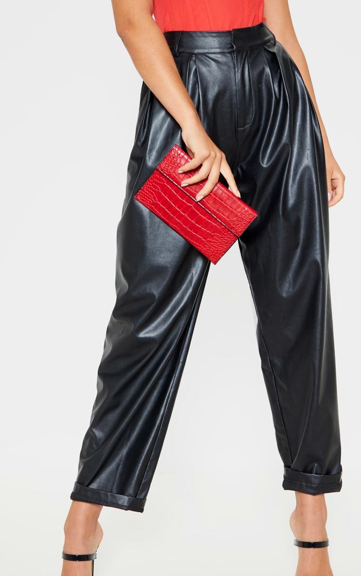 Red Croc Clutch Bag     1