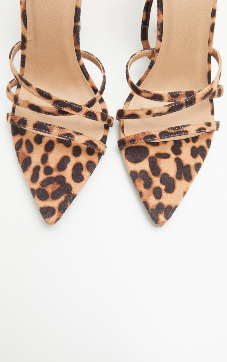 Leopard Print Point Toe Strappy Sandal 4