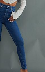 PRETTYLITTLETHING Mid Blue 5 Pocket Skinny Jeans 4