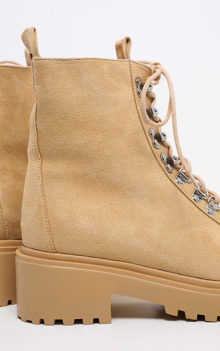 Sand Chunky Sole Hiker Boot 4