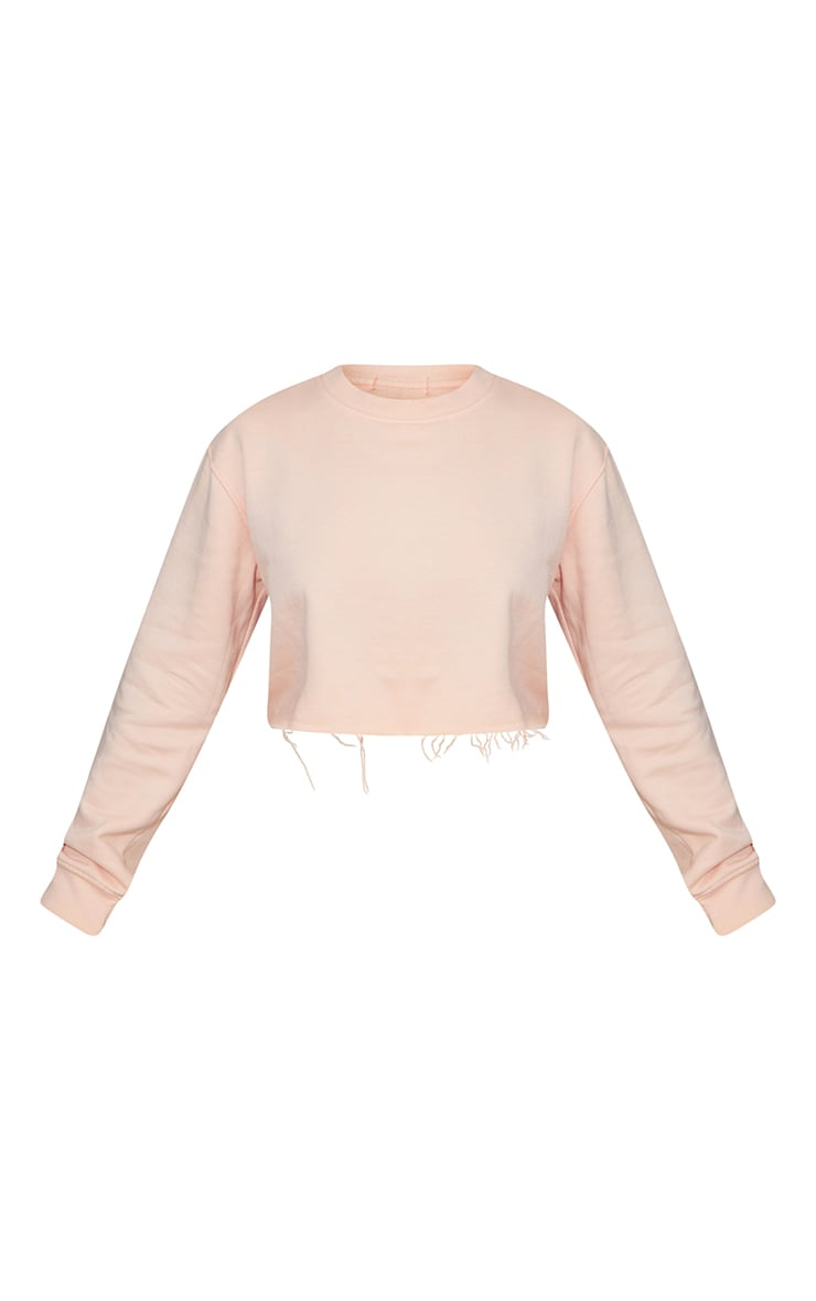 Petite Washed Orange Cropped Sweat 5