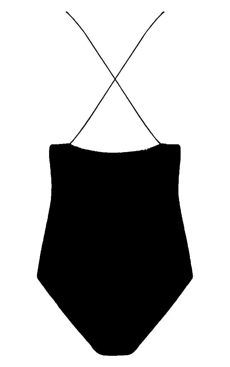Dorota Black Cross Back Thong Bodysuit 4