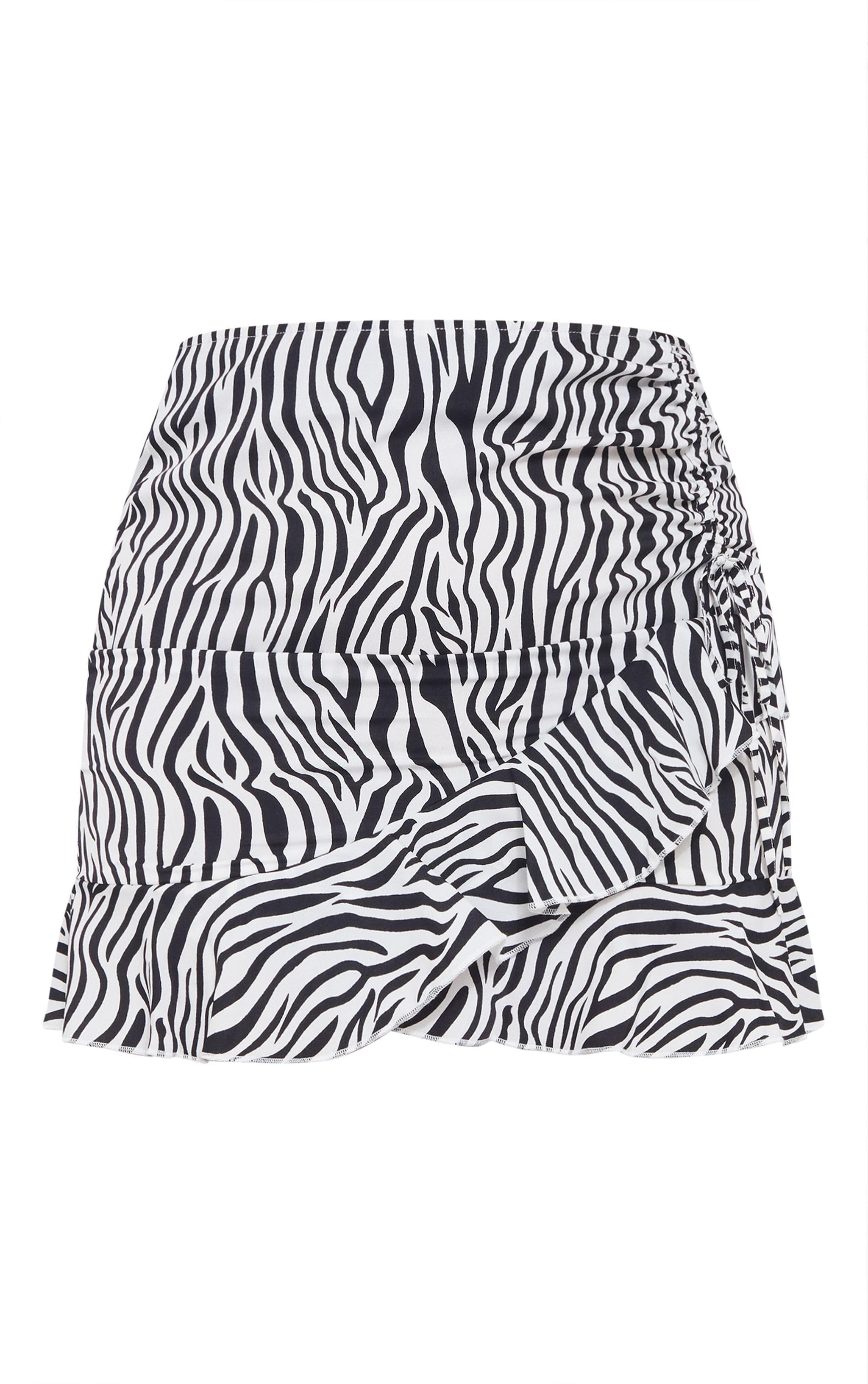 Plus Black Zebra Frill Skirt 6