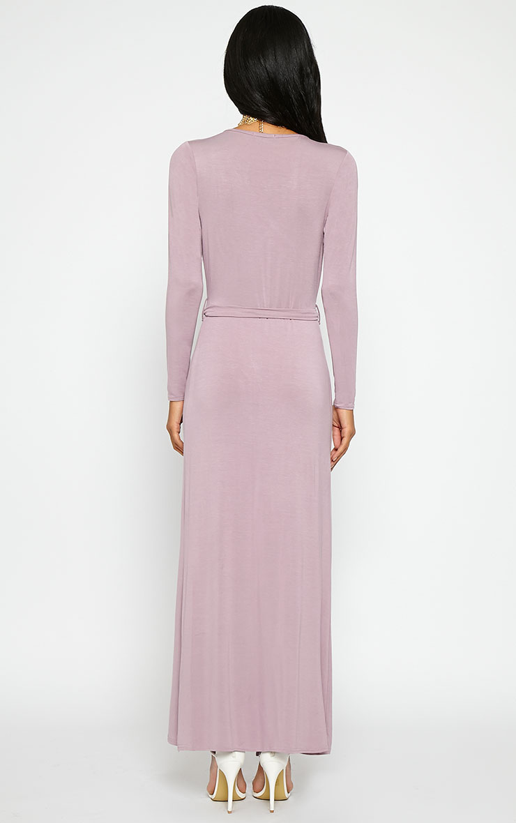 Pennie Mauve Wrap Front Maxi Dress 2