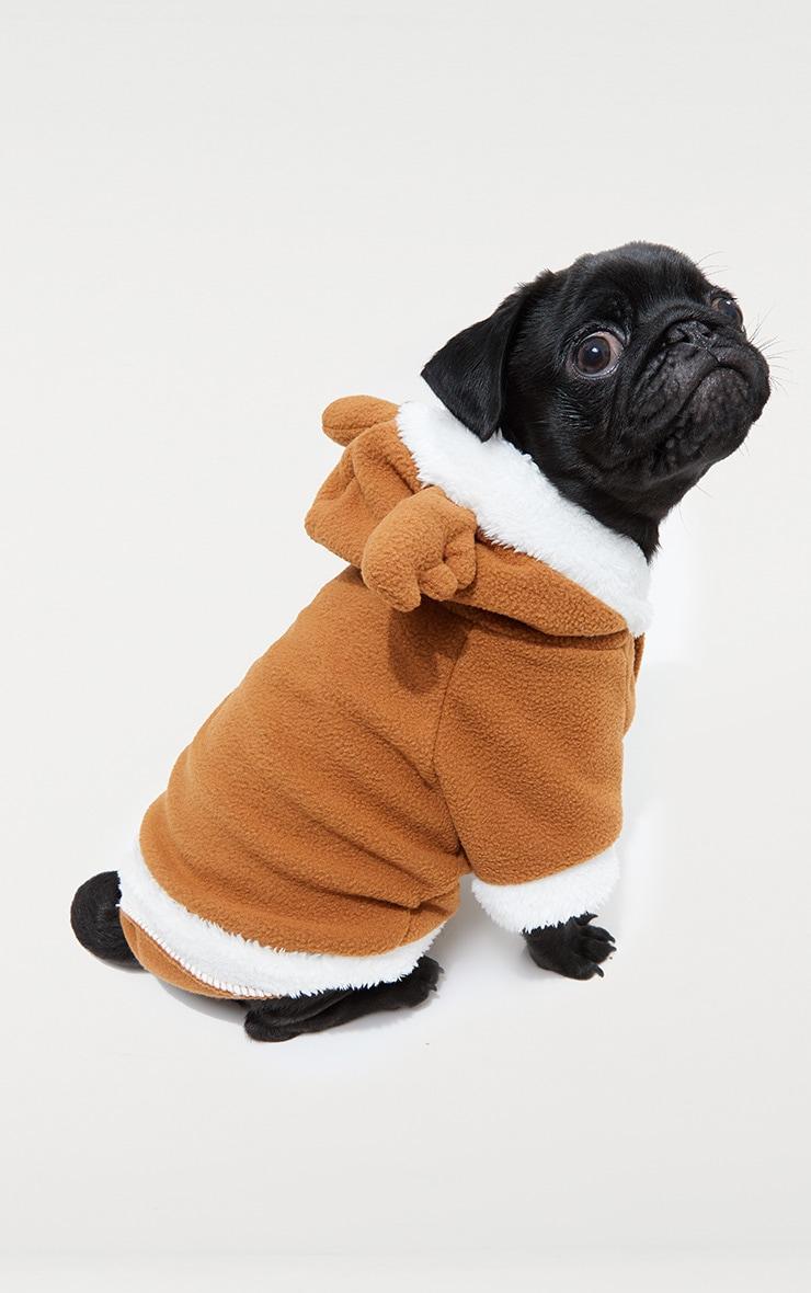 Costume de renne marron pour chien 3