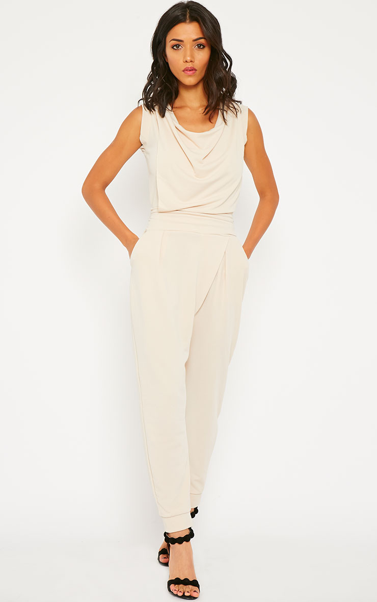 Cheris Cream Cowl Neck Jumpsuit 5