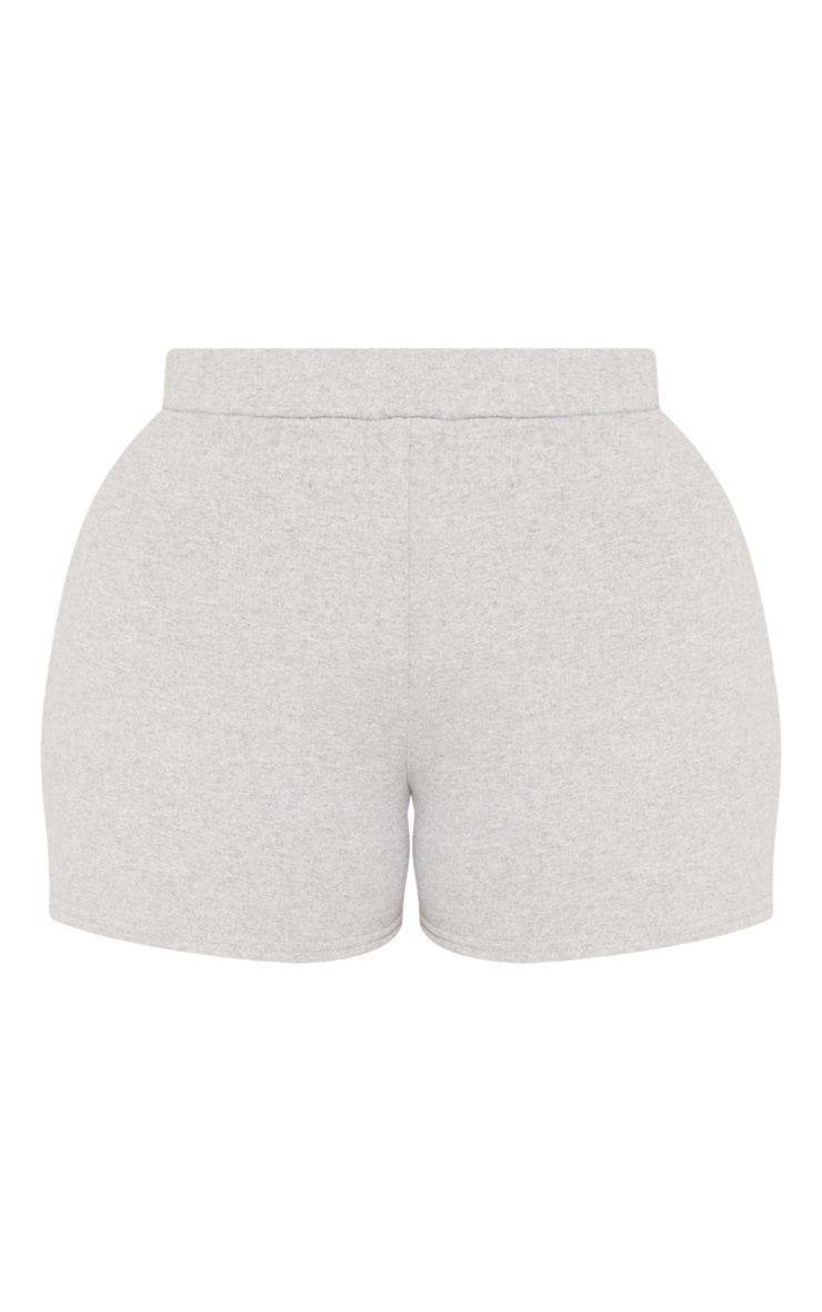 Shape - Short taille haute en sweat gris 3