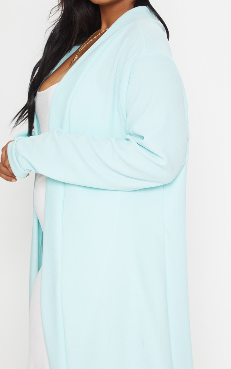 Plus Mint Crepe Maxi Duster Jacket 5