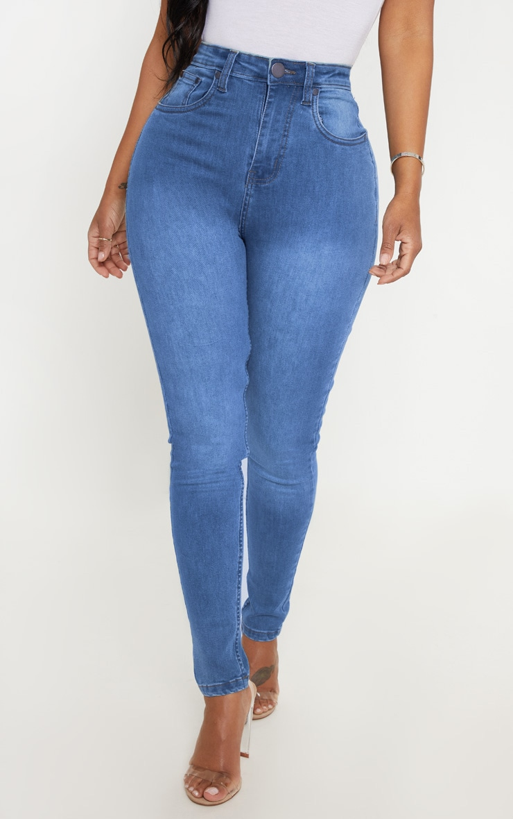 Shape Light Wash High Waist Skinny Jean 2
