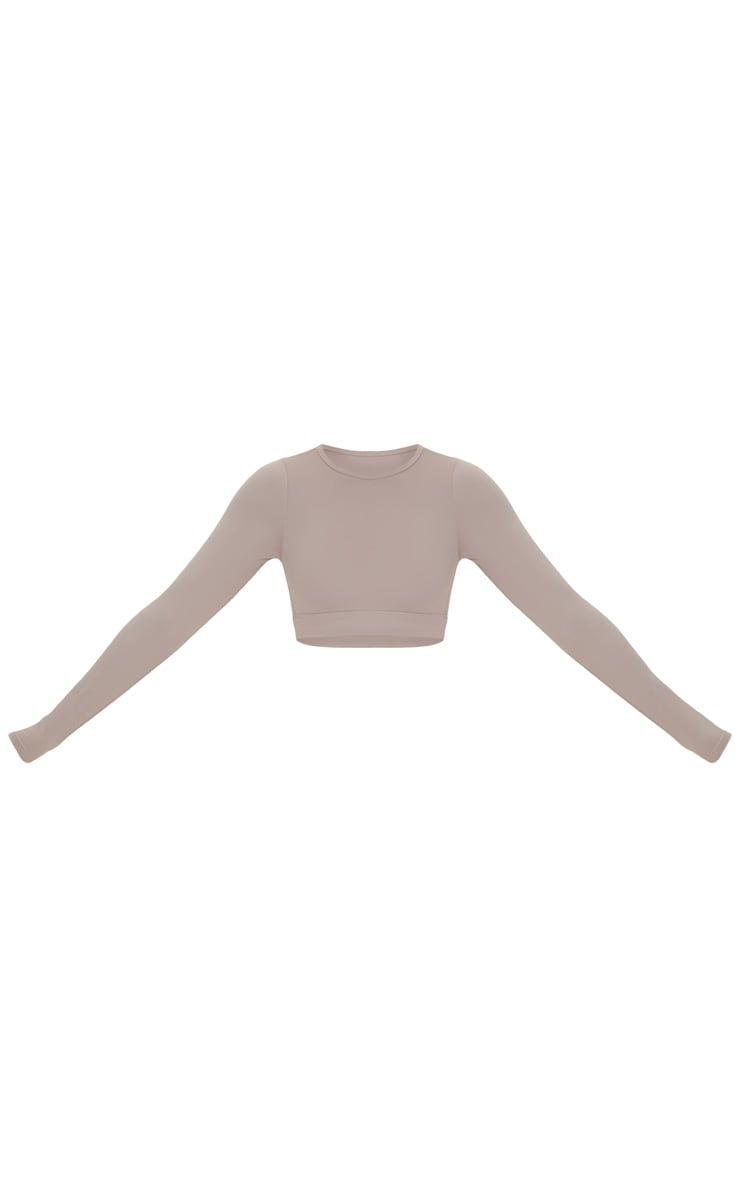 Taupe Sculpt Luxe Long Sleeve Sports Top 5