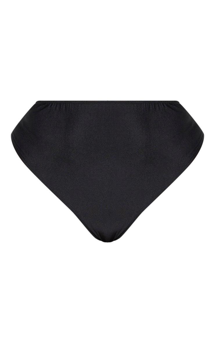 Plus Black High Rise Bikini Bottom  3