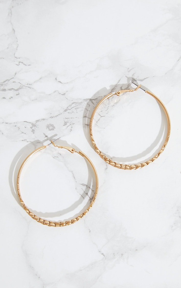 Gold Double Layer Hoops 3