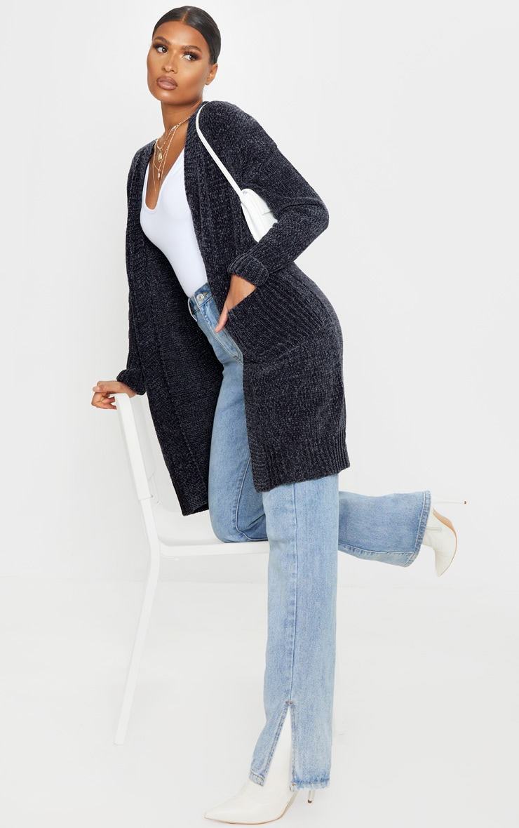Charcoal Chenille Cardigan 4