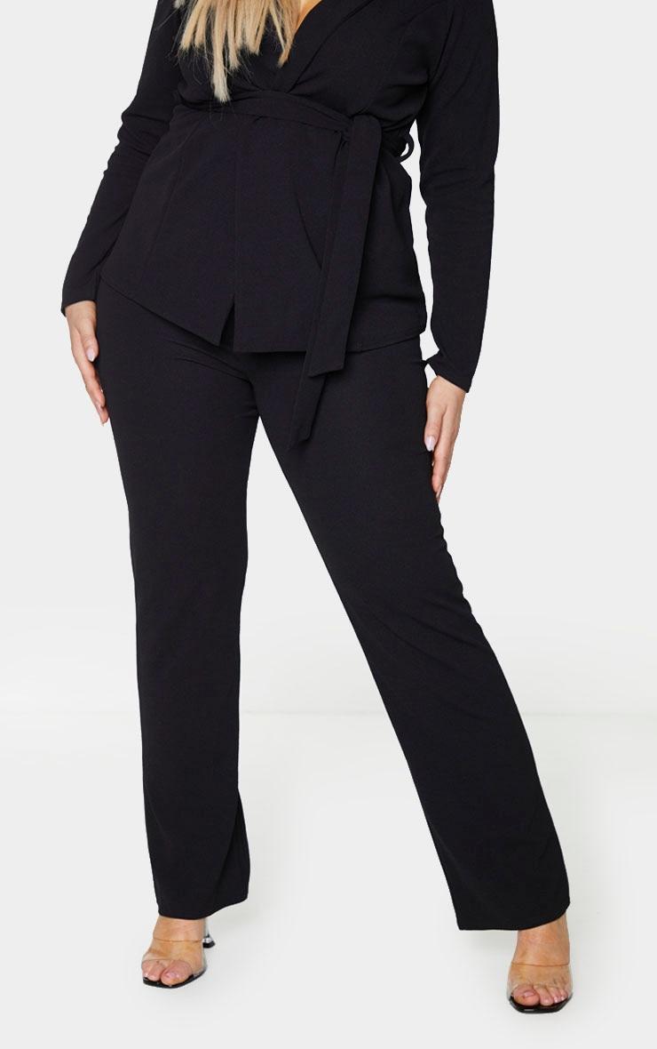 Plus Black Straight Leg Suit Pants 2