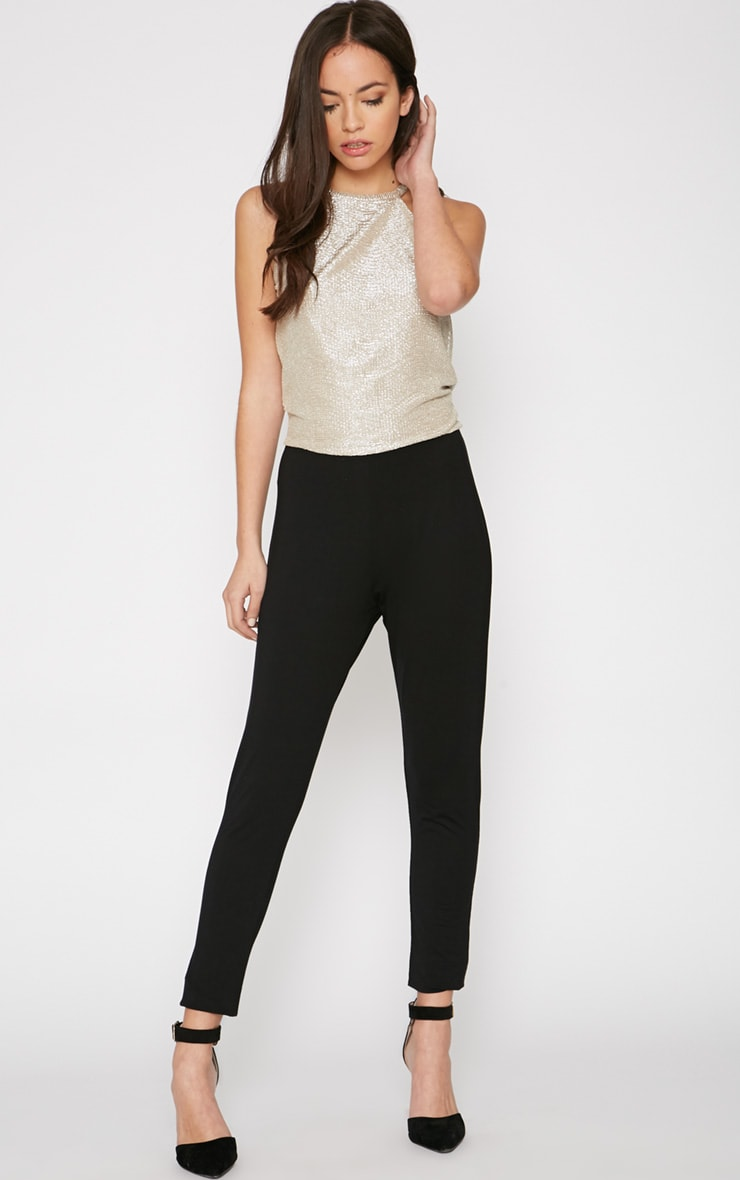 Paola Black and Gold Jumpsuit  4