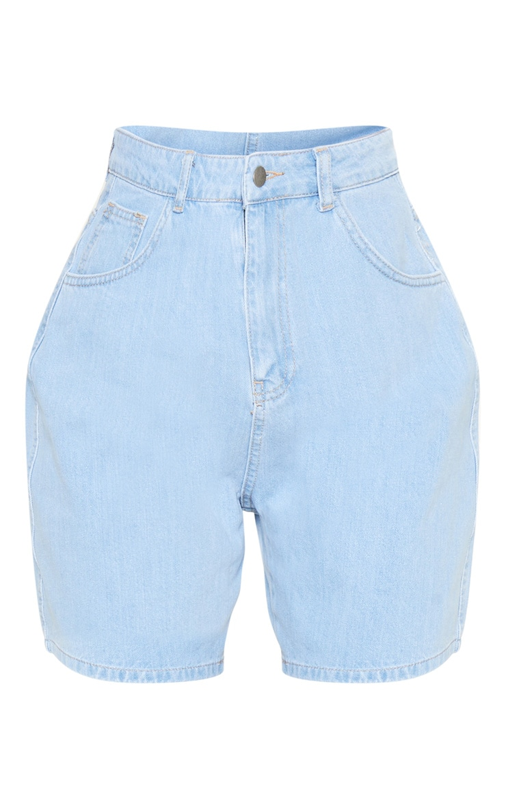 Tall Light Wash Denim Mom Shorts 3