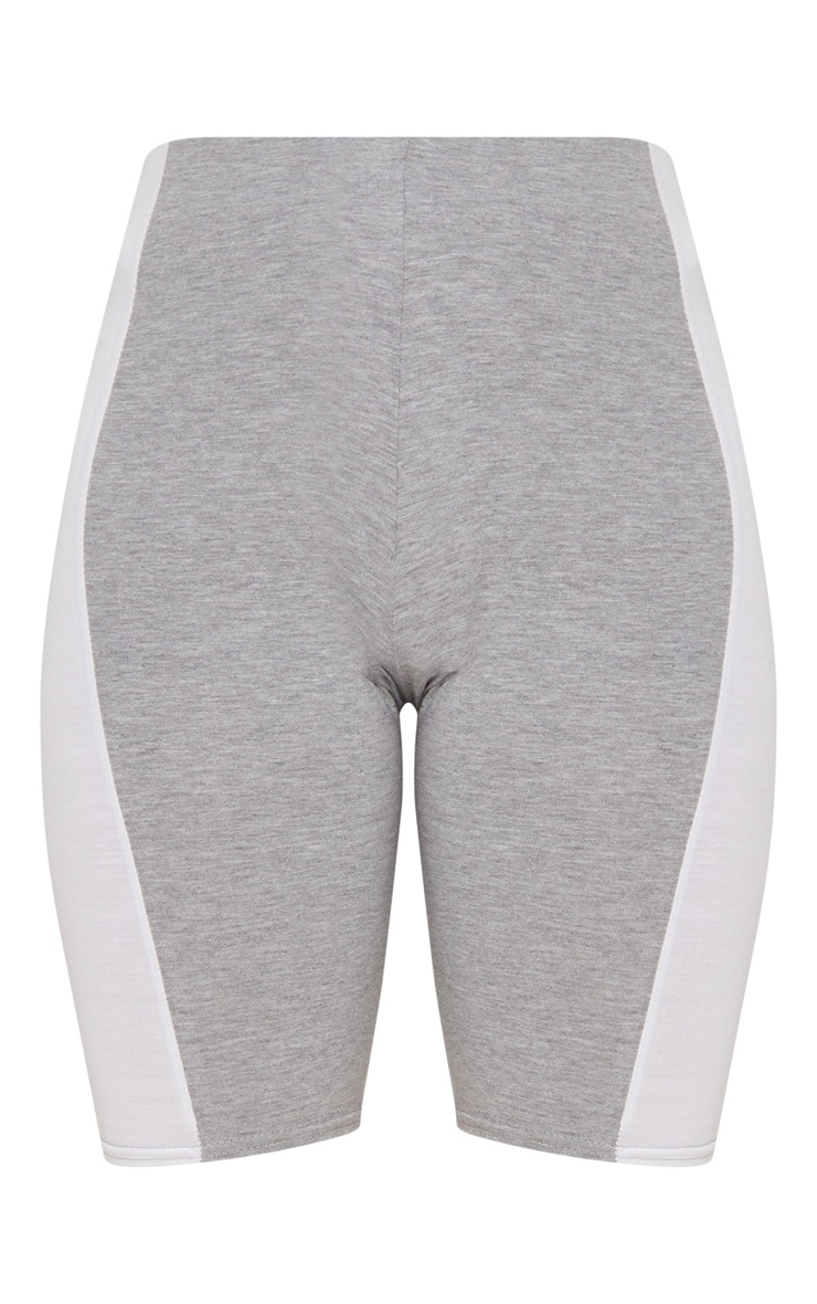 Grey Contrast Panel Cycle Shorts 3