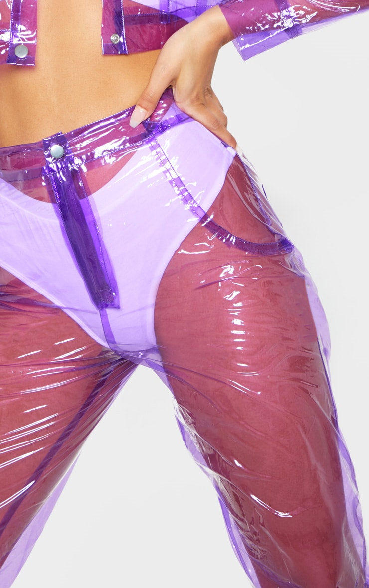 Lilac Transparent Straight Leg Trouser 6