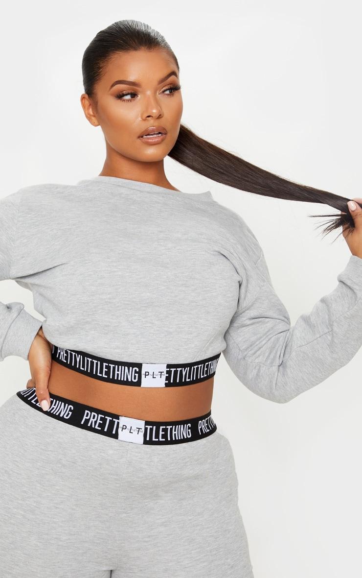 PRETTYLITTLETHING Plus Grey Lounge Sweater 5