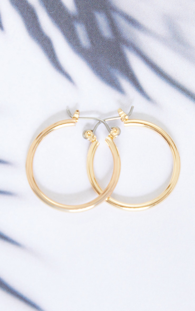Gold Mini Hoop Earrings 2
